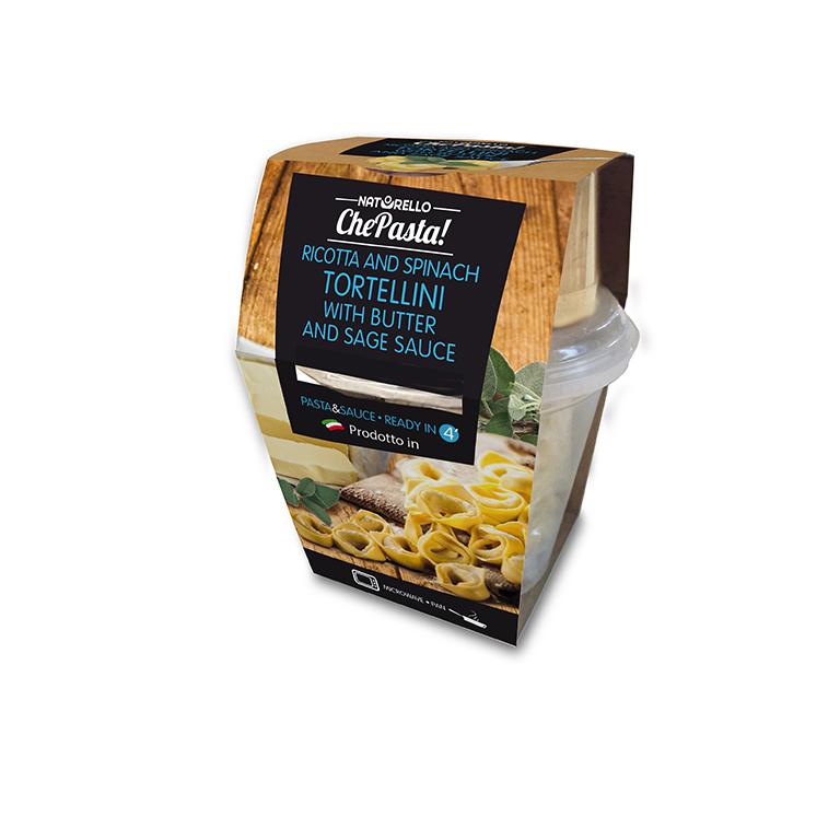Tortellini alla ricotta e spinaci con sugo di burro e salvia